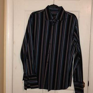 Men's long sleeve shirt. French cuff. Size L